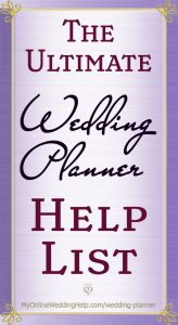 What does a wedding planner do? If you are planning a wedding on a budget, here are more than 80 surprising ways a wedding planner can help. At a lower cost. On the My Online Wedding Help blog. #WeddingPlanning #WeddingPlanner