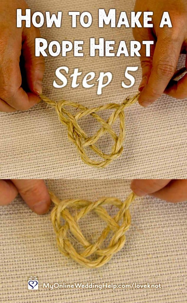 How to Make a Rope Heart Step 5