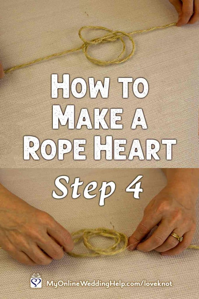 How to Make a Rope Heart Step 4
