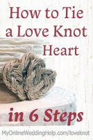 How to tie a love knot heart in six steps.