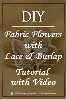 Easy DIY Loopy Burlap Fabric Flowers 10