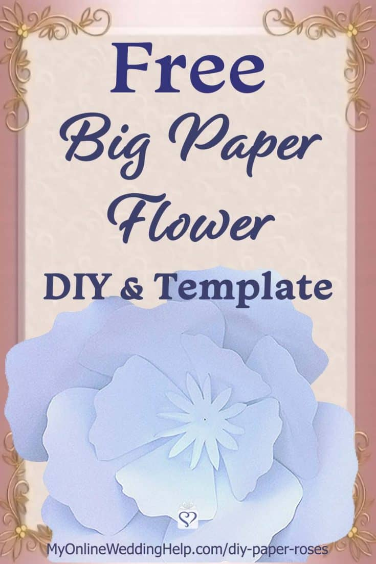 DIY Giant Paper Flowers with Template. 5 Steps! 1