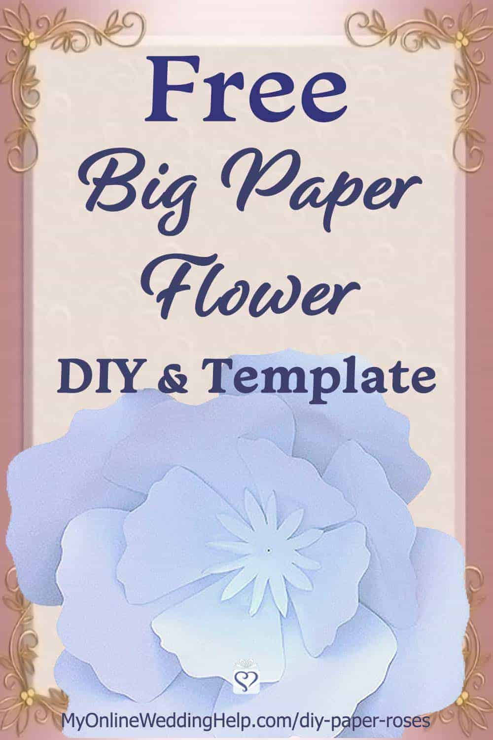image regarding Free Printable Paper Flower Templates identify Do it yourself Large Paper Bouquets - My On the net Wedding ceremony Support