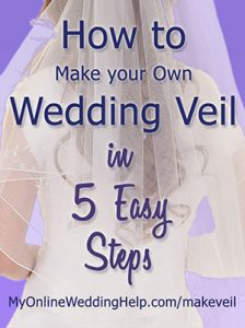 How to Make a Wedding Veil with Comb. 5 Steps! 15