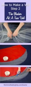 How to Make a Wedding Veil with Comb. 5 Steps! 10