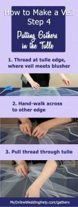 How to Make a Wedding Veil with Comb. 5 Steps! 8