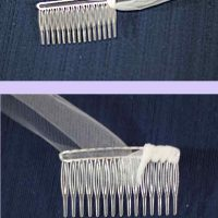Step 5: Sew on the veil comb.