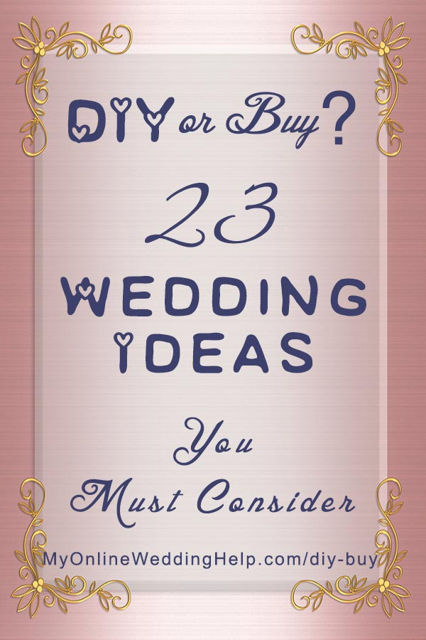 Buy or diy wedding planning ideas you must consider when hiring diy wedding planning ideas you must consider when hiring vendors or buying products 23 solutioingenieria Images