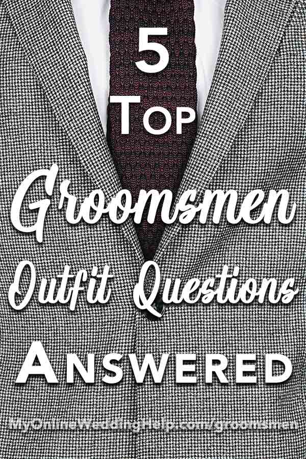 suits or other groomsmen attire 5 guys� wedding outfit
