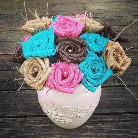 Lauren's burlap roses