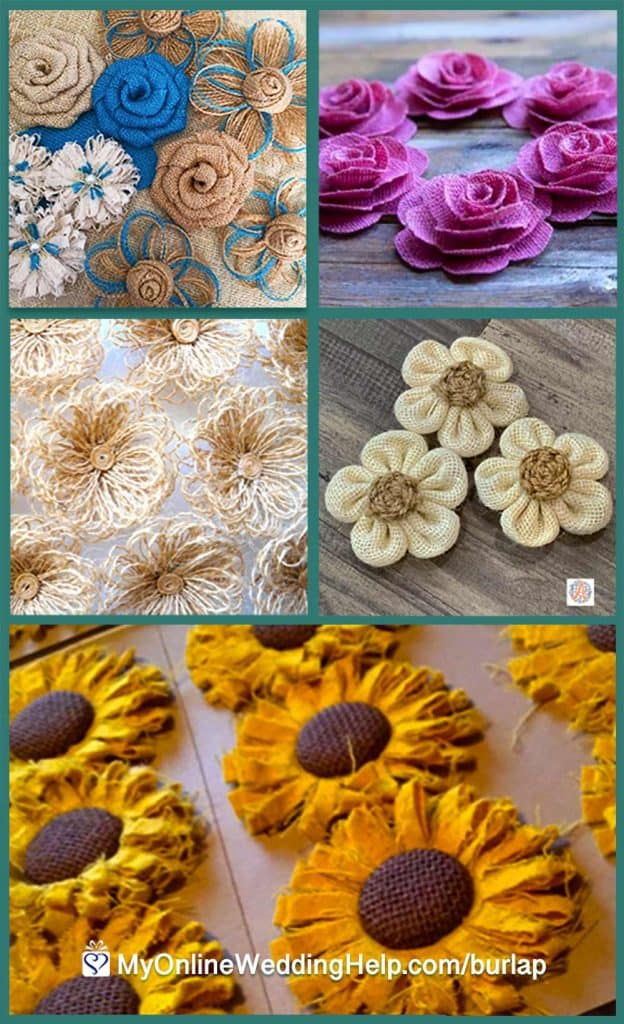 Burlap Flowers for Decorations
