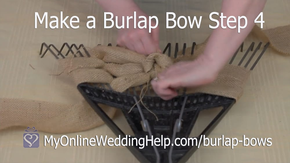 Make a Burlap Bow Step 4. Tie the Bow.