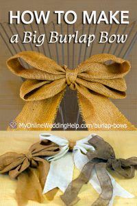 How to Make a Burlap Bow - Big, Double Bows