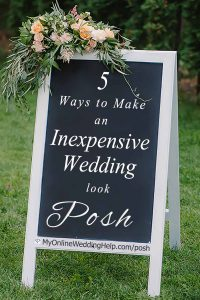 5 Ways to have a Posh, Luxury-Look Wedding on a Small Budget 2