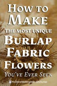 How to make the most unique burlap fabric flowers you've ever seen.