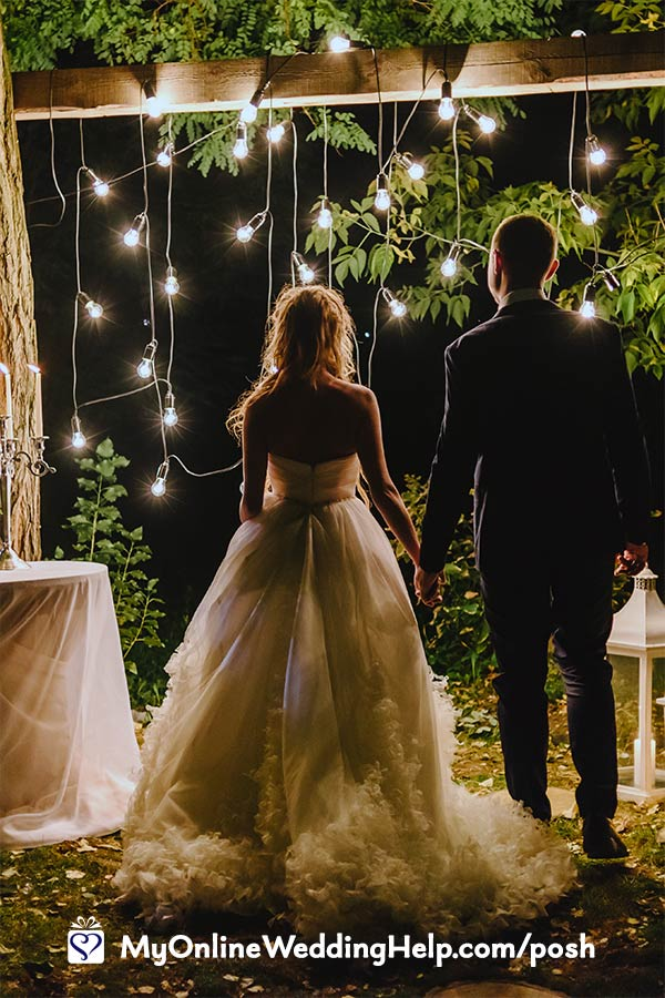 Lighting is one way to make your budget wedding look like your spent more.
