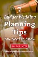 Budget Wedding Planning Tips