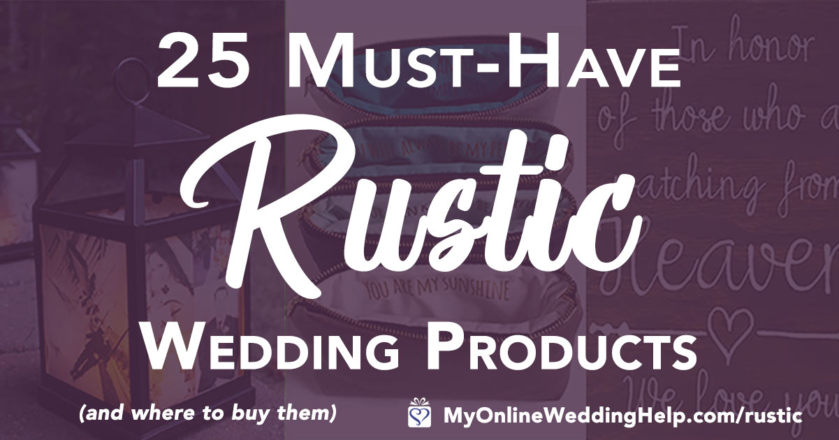 Rustic wedding ideas for a country theme wedding. Inspiration for rustic reception decorations, bridesmaids and groomsmen gifts, wedding signs, and more. Scroll down the page and look for these under Rustic Elegant Wedding Ideas numbers 6, 7, 14, and 19. On the My Online Wedding Help blog. #CountryWedding #RusticWedding #WeddingIdeas #MyOnlineWeddingHelp #WeddingHelp #Wedding #countryweddingideas