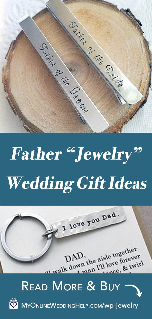 Father of the Bride or Groom Jewelry Wedding Gift Ideas