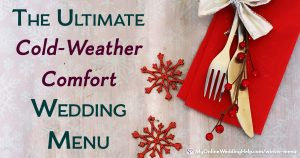 Cold weather comfort food wedding menu