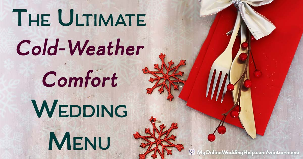 Cold weather comfort food wedding menu