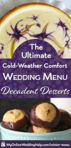 Desserts for a comfort food wedding.
