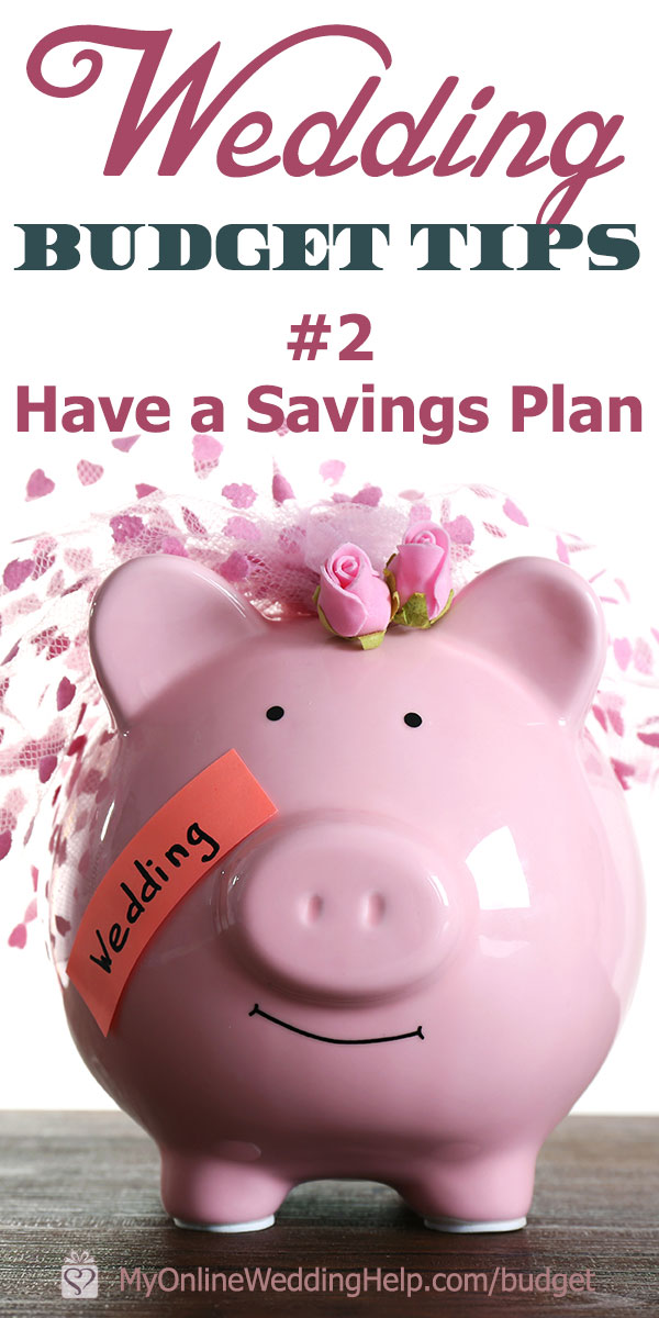 Develop a wedding savings plan to meet your budget. One of the money tips is to set up automatic savings, using a banking app for convenience. Read this and more wedding budget tricks on the My Online Wedding Help blog.