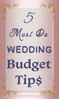 5 must-do tips for how to manage your wedding budget. Saving enough using a financial app. Creating your wedding budget worksheet (there's a link to a spreadsheet template in the post). Read these and 3 more on the My Online Wedding Help blog.