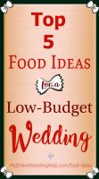 Wedding food ideas on a budget ... tips for saving money on the reception food. On the My Online Wedding Help blog. #WeddingFood
