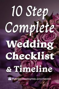 10 Step Complete Wedding Checklist and Timeline