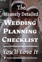 Complete wedding planning checklist with timeline.