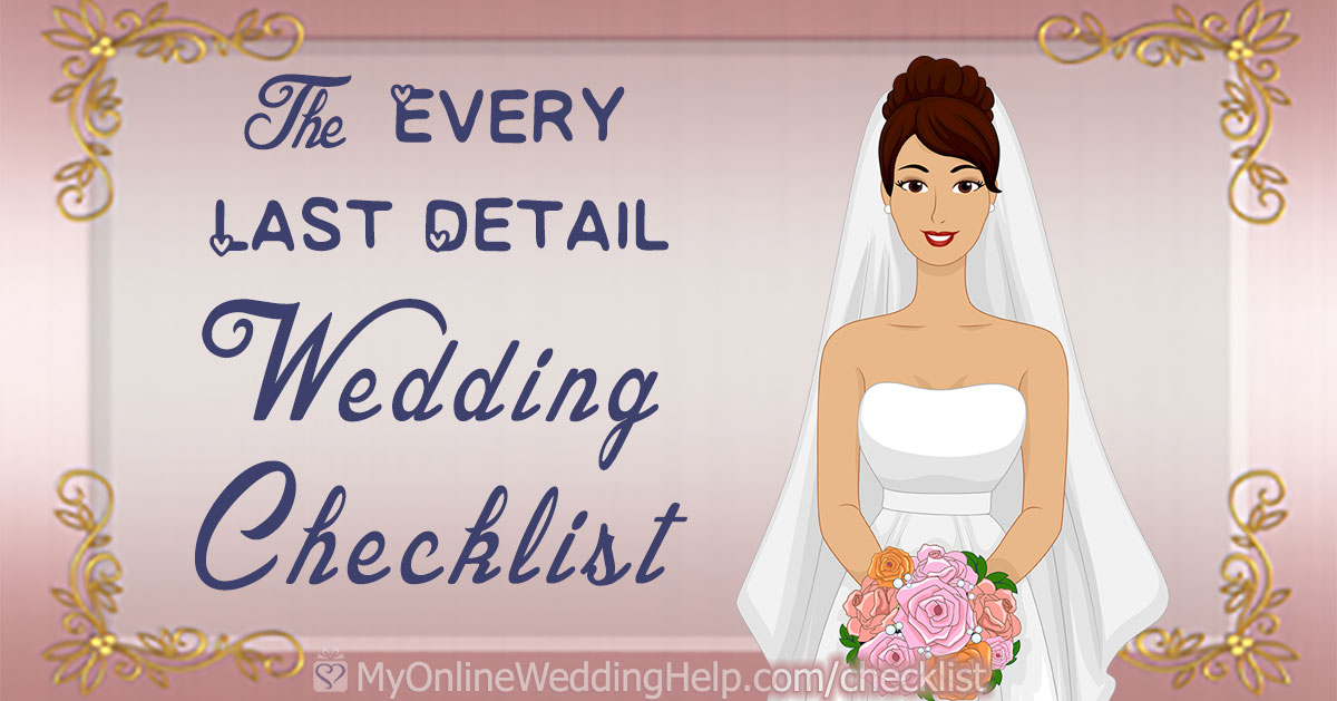 Your Free And Complete Wedding Planning Checklist Details