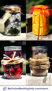 Mason Jar Centerpieces with Fillers