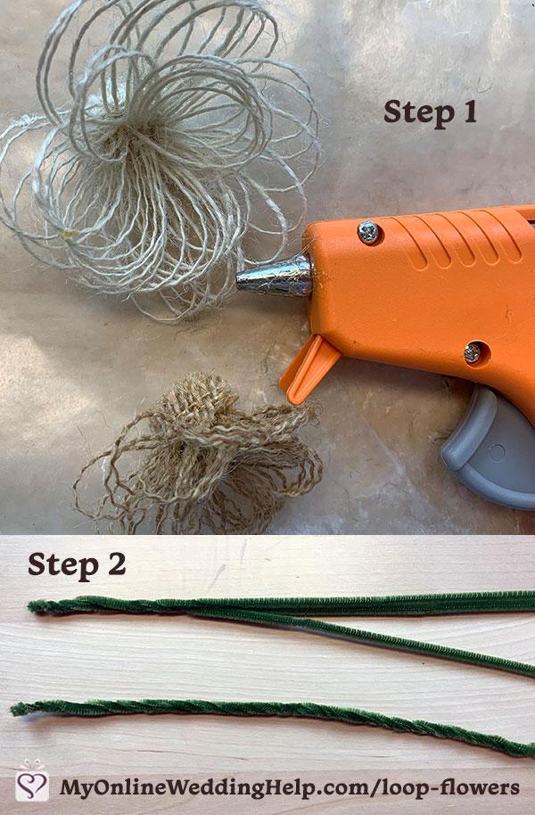 Easy DIY Burlap Fabric Flowers 4