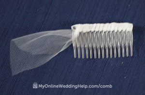 Wrap the veil comb until the tulle has completely covered the base. Then tack with glue.