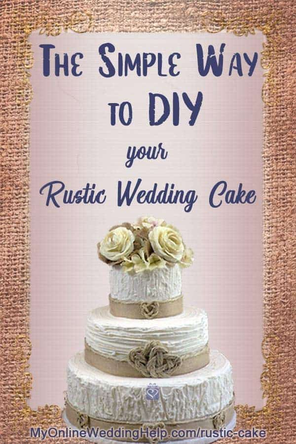 How to DIY Rustic Wedding Cake Decorating. 3 Simple Techniques. 1