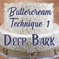 Buttercream Technique 1: Deep Tree Bark Icing