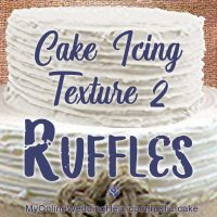 Cake Icing Texture 2: Simple Ruffles