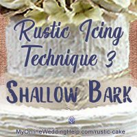 Rustic Icing Technique 3: Shallow Tree Bark Icing