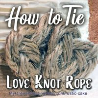 How to Tie a Love Knot Rope