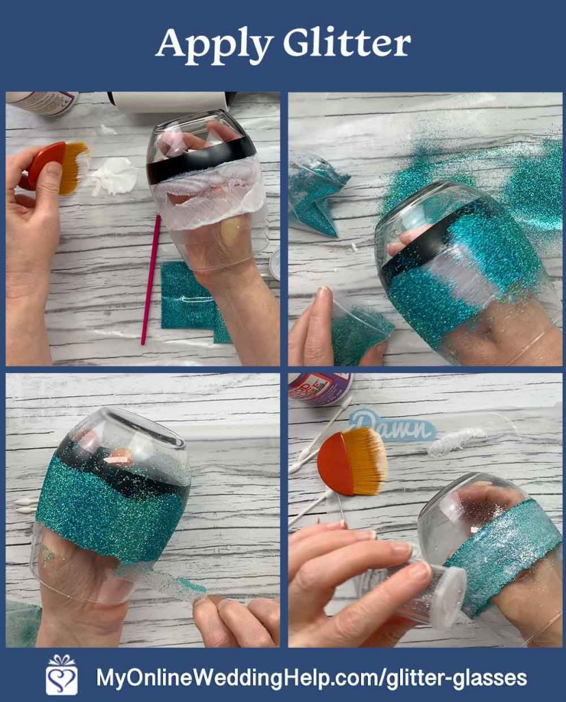 DIY Your Own Personalized Glitter Wine Glasses 6