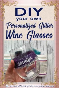 DIY Your Own Personalized Glitter Wine Glasses 1