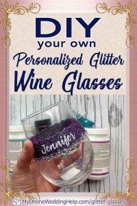 DIY Personalized Glitter Wine Glasses. 5 Steps! 1