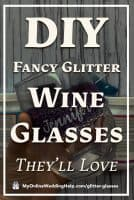 DIY Fancy Glitter Wine Glasses They'll Love
