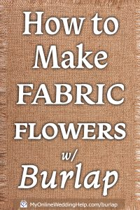 Easy DIY Loopy Burlap Fabric Flowers 1