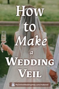 How to Make a Wedding Veil with Comb. 5 Steps! 1