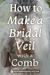 How to Make a Wedding Veil with Comb. 5 Steps! 2