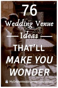 Nontraditional wedding venue ideas that'll make you wonder