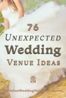 76 Non Traditional Wedding Venue Ideas