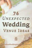 76 Non Traditional Wedding Venue Ideas